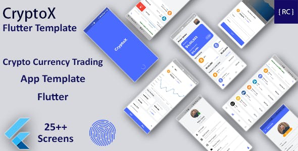 Crypto Currency Trading Android App Template + iOS App Template | Flutter  | CryptoX