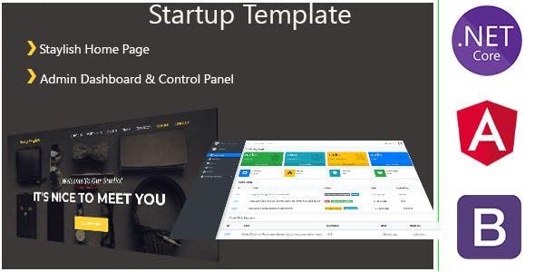 AgencyST - Angular 10 / .Net Core / Startup Template - Admin Panel & Stylish Home Page