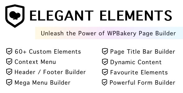 Elegant Elements for WPBakery Page Builder - CodeCanyon Item for Sale