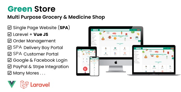 Green Store - Laravel & VUE Single Page Grocery Shop - CodeCanyon Item for Sale