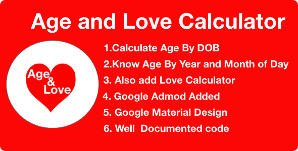 Age and Love Calculator With Google Admob