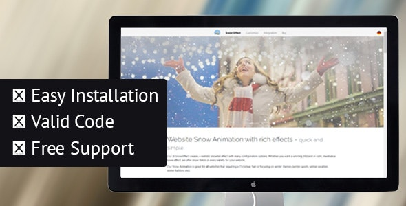 Snow Effect & Animation for Winter & Christmas in javascript - CodeCanyon Item for Sale