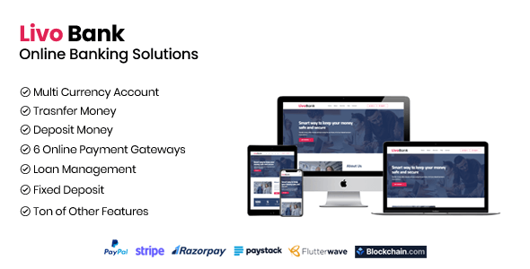 Livo Bank - Complete Online Banking System