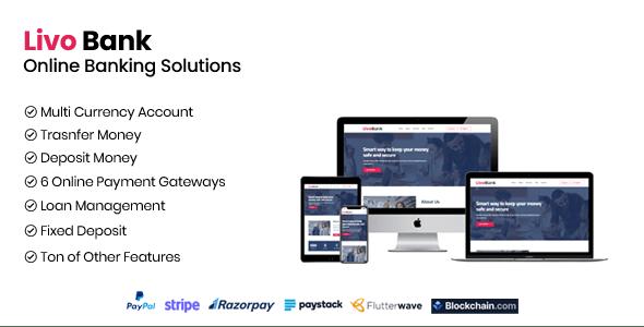 Livo Bank v1.1 – Complete Online Banking System