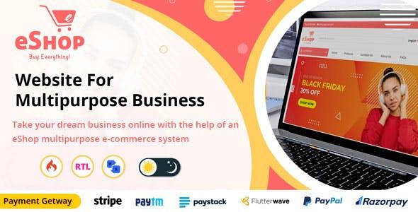 eShop - Multipurpose Ecommerce / Store Website