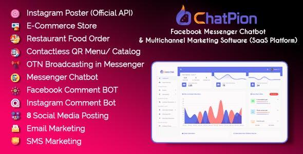 ChatPion - Facebook Chatbot, eCommerce & Social Media Management Tool (SaaS)