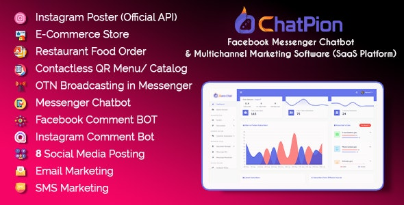 ChatPion - Facebook Chatbot, eCommerce & Social Media Management Tool (SaaS) - CodeCanyon Item for Sale