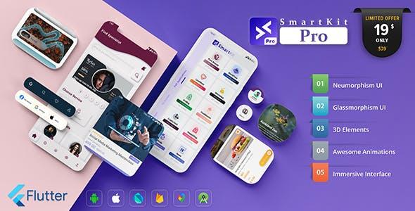 SmartKit Pro – Flutter UI Kit