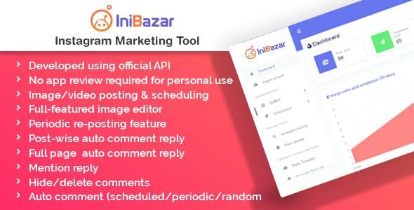 IniBazar - Instagram Post Scheduler & Marketing Tool (SaaS Platform)