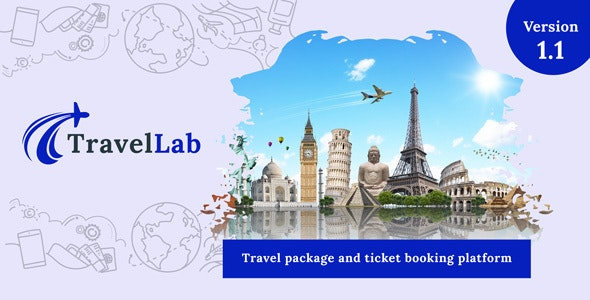 TravelLab - Travel Package & Ticket Booking Platform - CodeCanyon Item for Sale