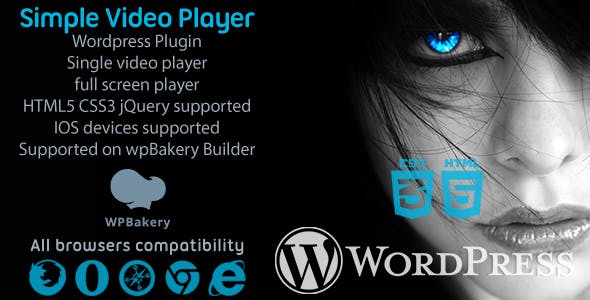 Simple Video Player svPlayer Plugin For WpBakery Builder