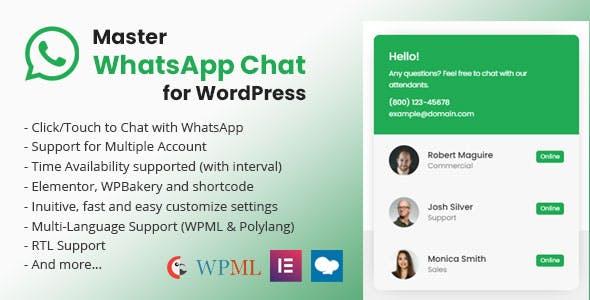 Master WhatsApp Chat For WordPress