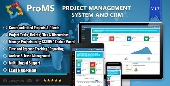 ProMS - Premium Project Management System + Live Chat Module - CodeCanyon Item for Sale