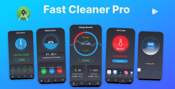 Fast Cleaner Pro - Application to clean, save battery and optimize machine speed.