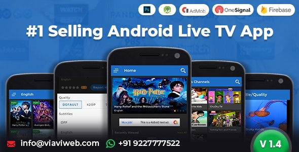 Android Live TV ( TV Streaming, Movies, Web Series, TV Shows & Originals) - CodeCanyon Item for Sale