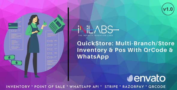 QuickStore: Multi Branch/Store Inventory & Pos With QrCode & WhatsApp