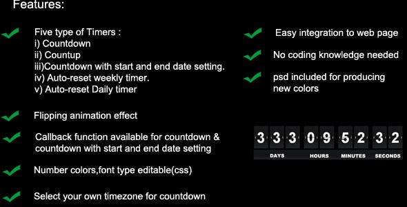 30 Best JavaScript & jQuery Countdown Timers