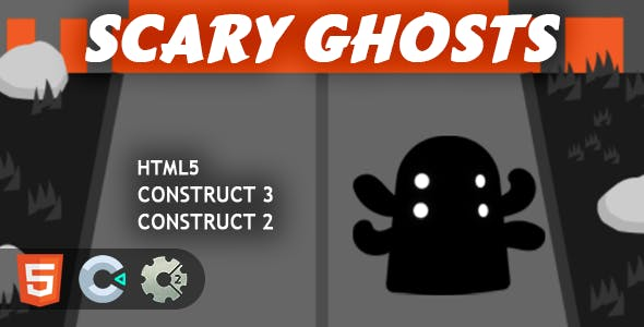 Scary Ghosts HTML5 Construct 2/3