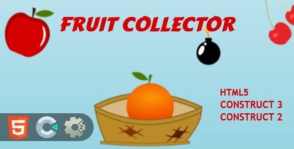 Fruits Collector HTML5 Construct 2/3