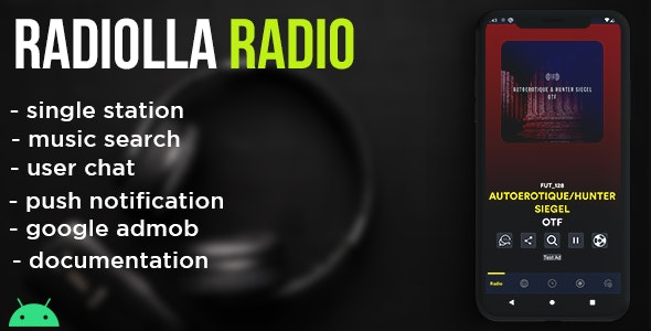 Radiolla S - live radio, news, push, search track, chat, php backend (android) - CodeCanyon Item for Sale