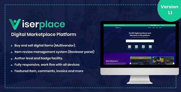 ViserPlace - Digital Marketplace Platform - CodeCanyon Item for Sale