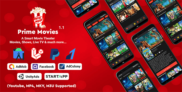 Prime Movies - Watch Live TV, Shows, Movies with Premium Subscription Plan - CodeCanyon Item for Sale
