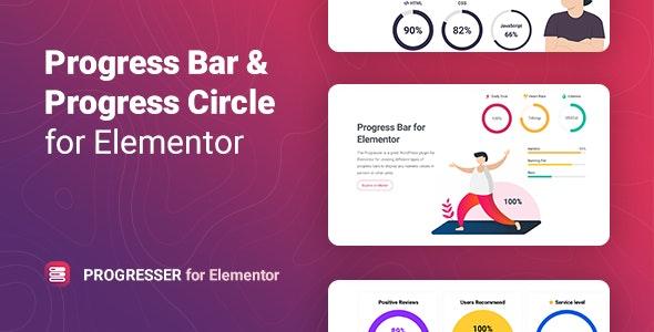 Progresser v1.0 – Progress Bar and Progress Circle for Elementor