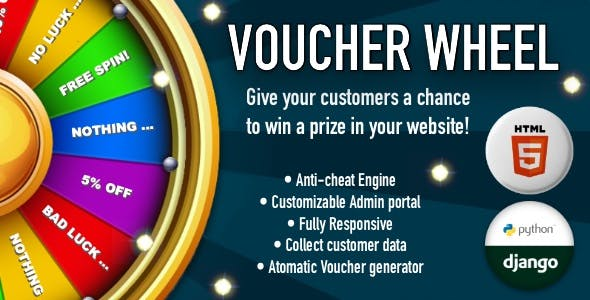 Voucher Wheel - Engage and give prizes to your customers