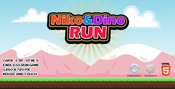 Niko and Dino Run - CAPX I C3P I HTML5 Game