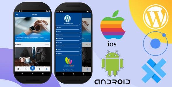 Wordpress | Ionic 5 | Capacitor | News, Blog  App
