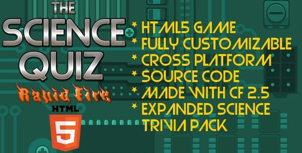 The Science Quiz - HTML5 Game