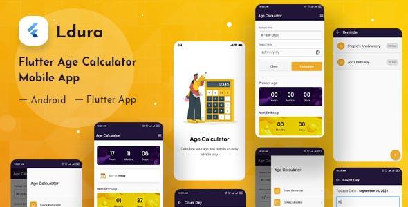 Ldura - Flutter Age Calculator Mobile App