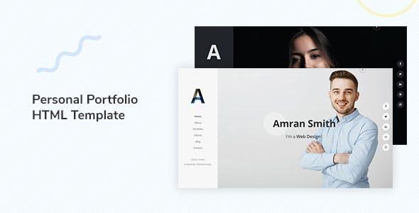 Amran - Personal Portfolio Template