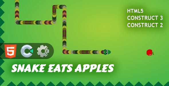 Snake Eats Apples HTML5 Construct 2/3 Game