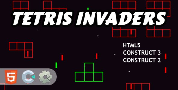 Tetris Invaders HTML5 Construct 2/3 Game