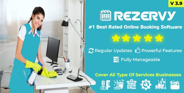 Rezervy - Online bookings system for cleaning, maids, plumber, maintenance, repair, salon services - CodeCanyon Item for Sale