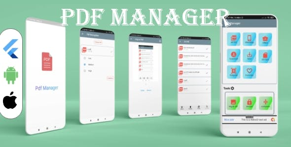 Flutter PDF Manager & Editor with Admob ads