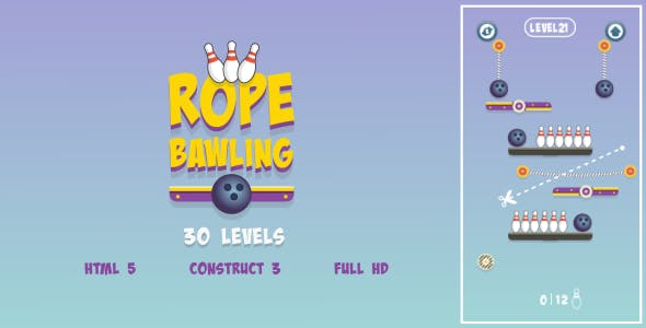 Rope Bawling - HTML5 Game (Construct3)