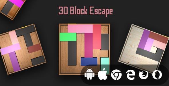 3D Block Escape - Cross Platform Puzzle Game
