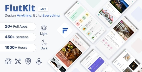 FlutKit v3.6.0 – Flutter UI Kit