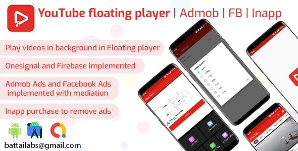 YouTube floating player | Admob | FB | Inapp