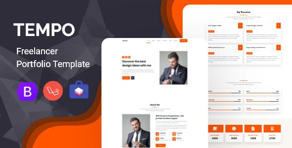 Tempo - Freelancer Portfolio & Ajency Script