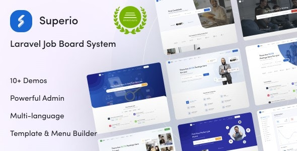 Superio - Laravel Job Board System - CodeCanyon Item for Sale