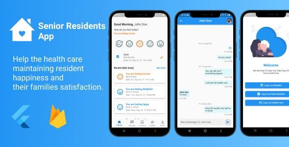 Senior Residents App - Flutter with Firebase
