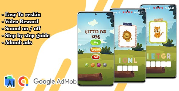 Letter For Kids - Learn Animals Names Game