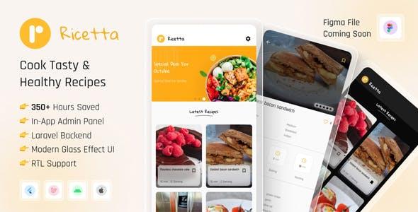 Ricetta - Flutter Recipe App with Laravel Backend