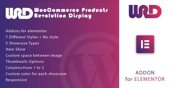 Woocommerce Products Revolution Display for Elementor WordPress Plugin
