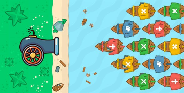 Port defender-2:Infinity flow - HTML5 PC&Mobile Game (Construct 2-3)