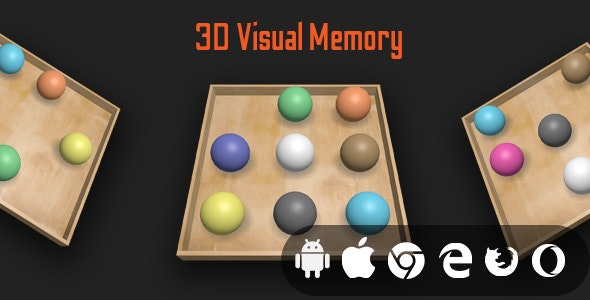 3D Visual Memory - Cross Platform Educational Game - CodeCanyon Item for Sale