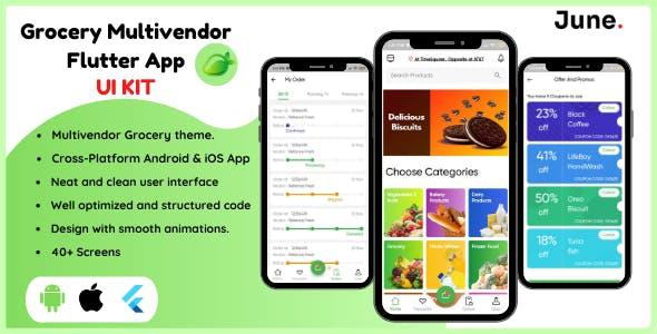 Gshop Grocery Multivendor App - Flutter App UI Kit